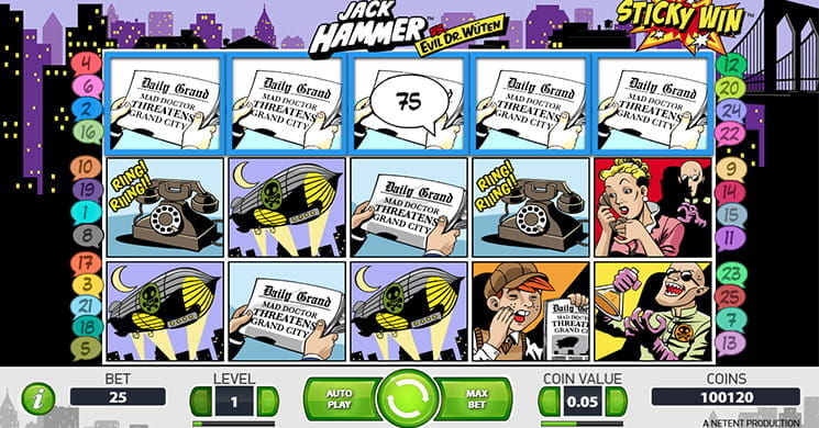 Jack Hammer Slot with Sticky Wins