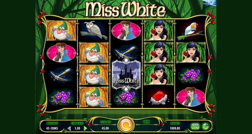 Miss White IGT Slot