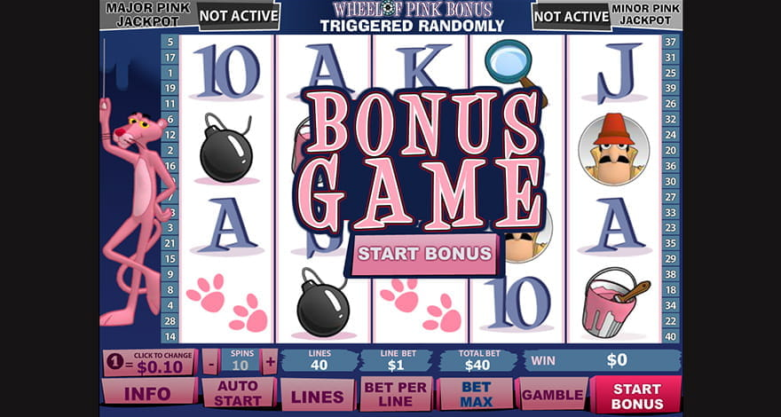 Pink Panther Bonus Game