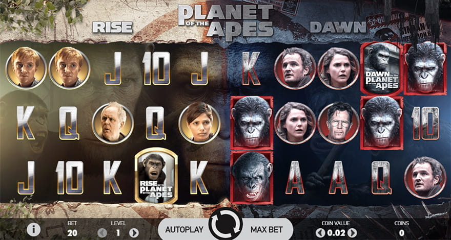 Planet of the Apes Video Slot