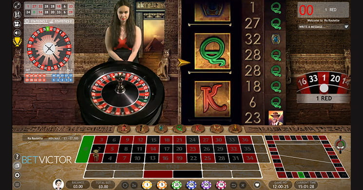 Ra Roulette from Extreme Live Gaming