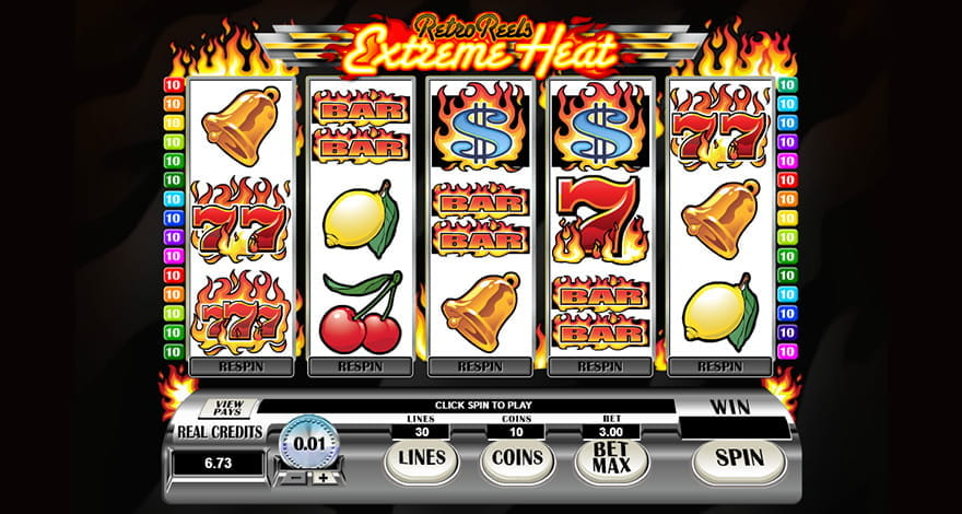 Retro Reels Extreme Heat Microgaming Slot