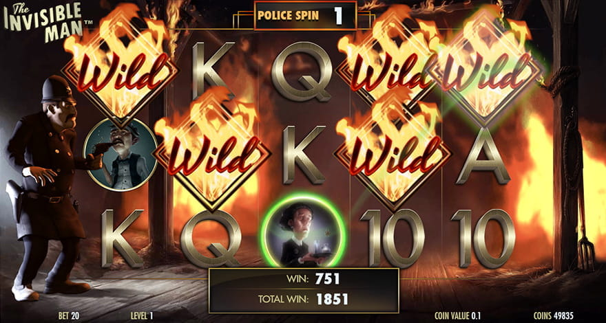 The Invisible Man Police Spins Bonus