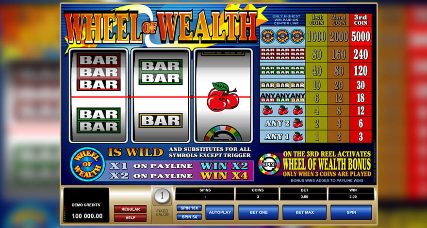 Wheel of Wealth Classic Slot
