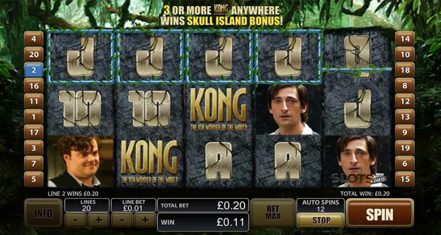 King Kong Slot by Playtech