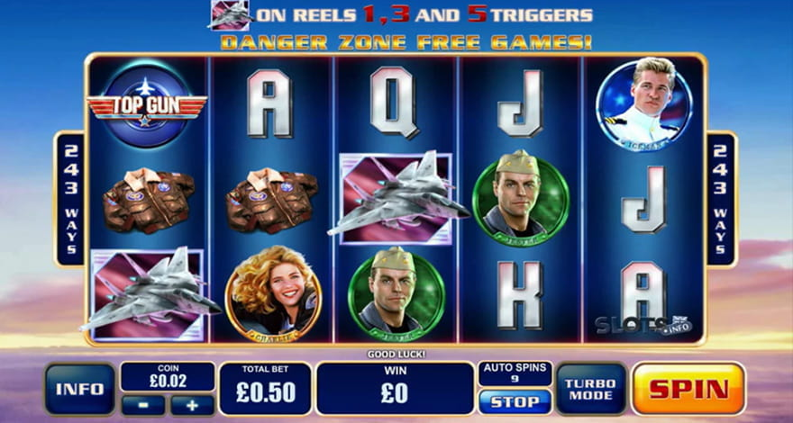Top Gun Slot by Playtech