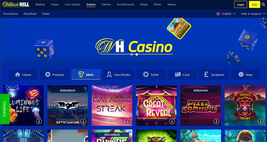 Playing & Betting at William Hill Online Casino