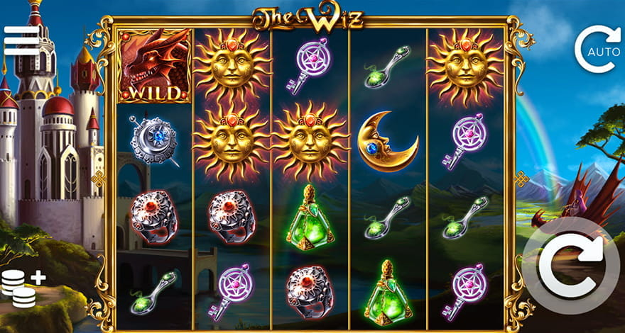 The Slot Has a Medieval Appealing with its Castle on the Hill and Calming Sounds. The Dragon Head Brings a Multiplier Sum.