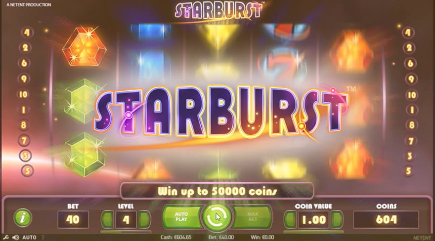 Play the Today Most Popular Video Slot – Starburst by NetEnt