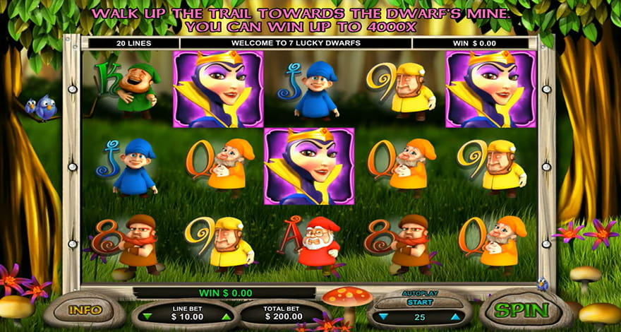 7 Lucky Dwarfs Slot by Leander Games
