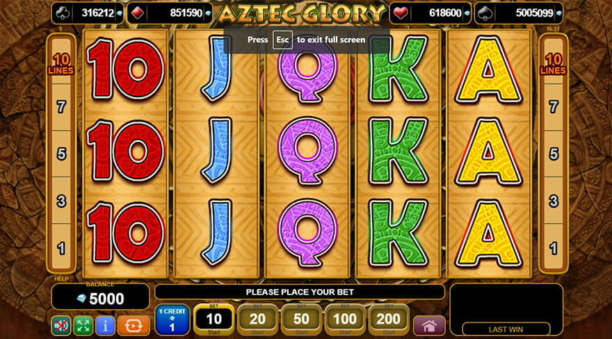 Aztec Glory Slot Game