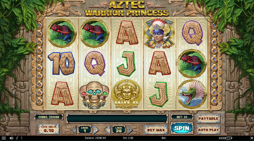 Aztec Warrior Princess Slot Game