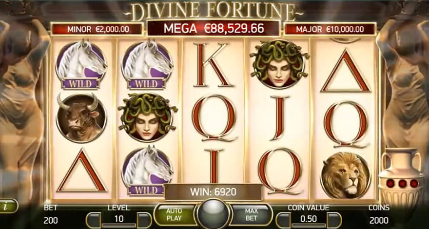 Divine Fortune Slot In-Play