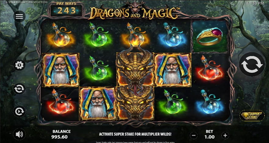 Dragons Slot Machine Dragons and Magic