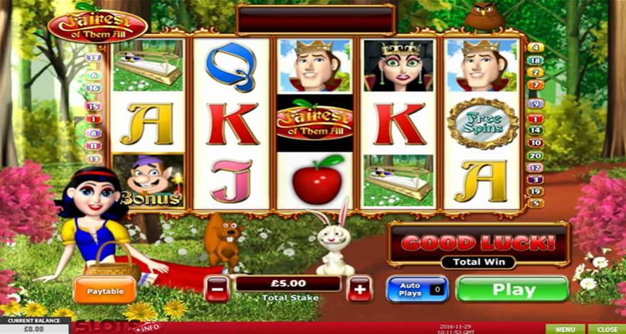 Fairest of Them All Slot by Playtech
