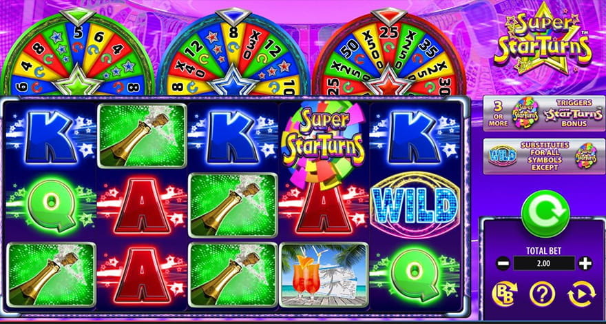 Game Show Slots Super Star Turns