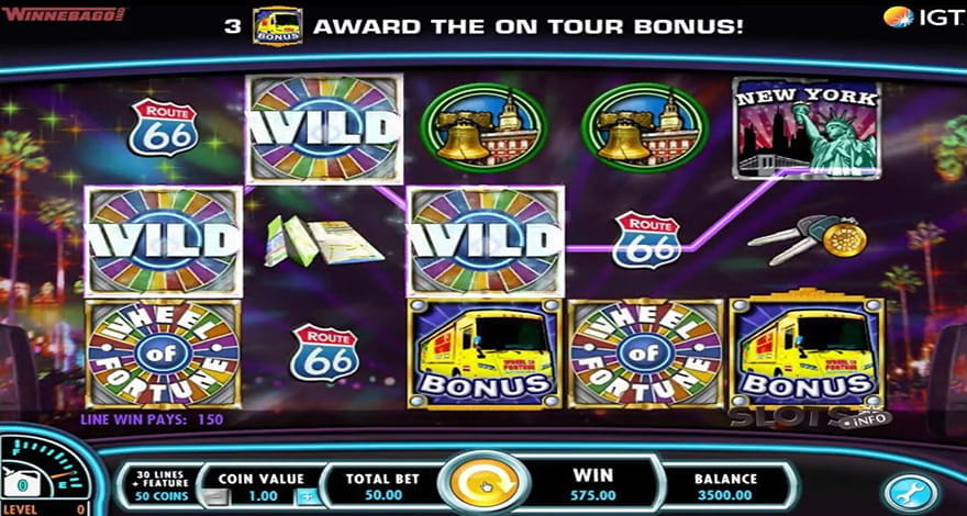 Game Show Slots Wheel of Fortune Tour