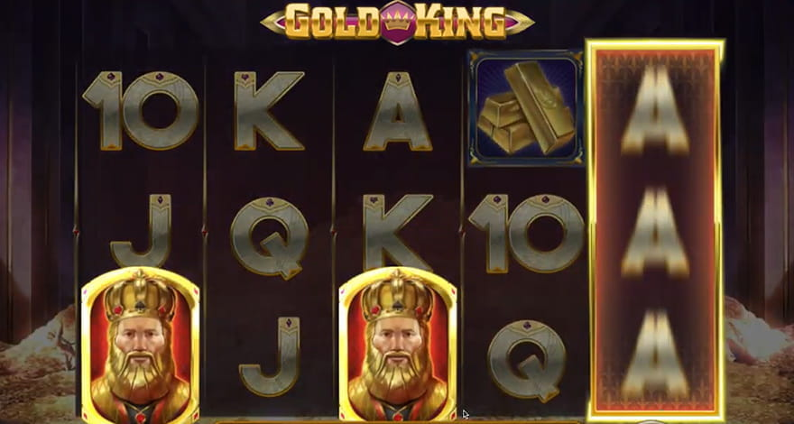 Gold King Slot In-Play