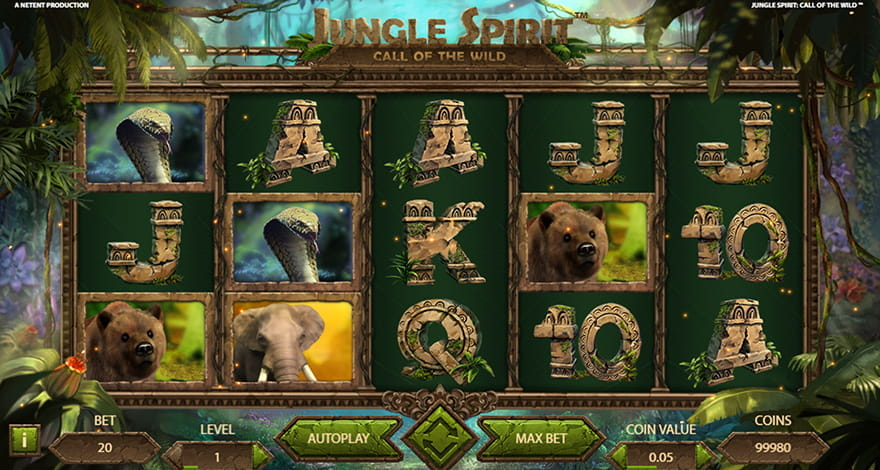 Win on Jungle Spirit: Call of the Wild