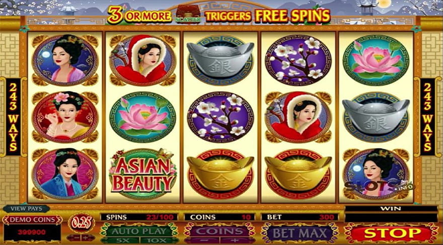 Online Chinese Slots Asian Beauty