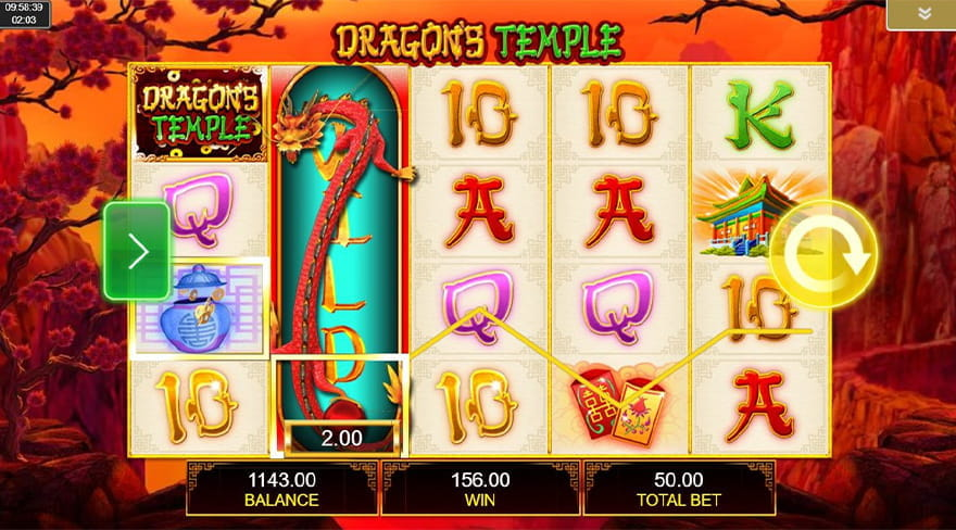 Online Chinese Slots Dragon's Temple