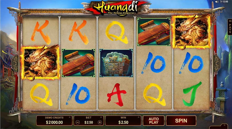 Online Chinese Slots Huangdi The Yellow Emperor