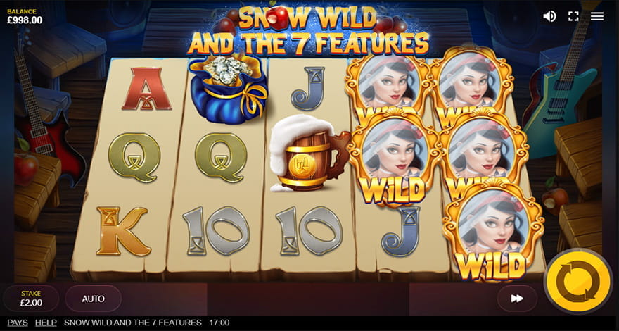 Snow Wild and the 7 Features Slot by Red Tiger
