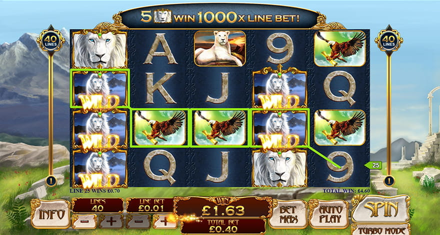 Win Free Spins on White King