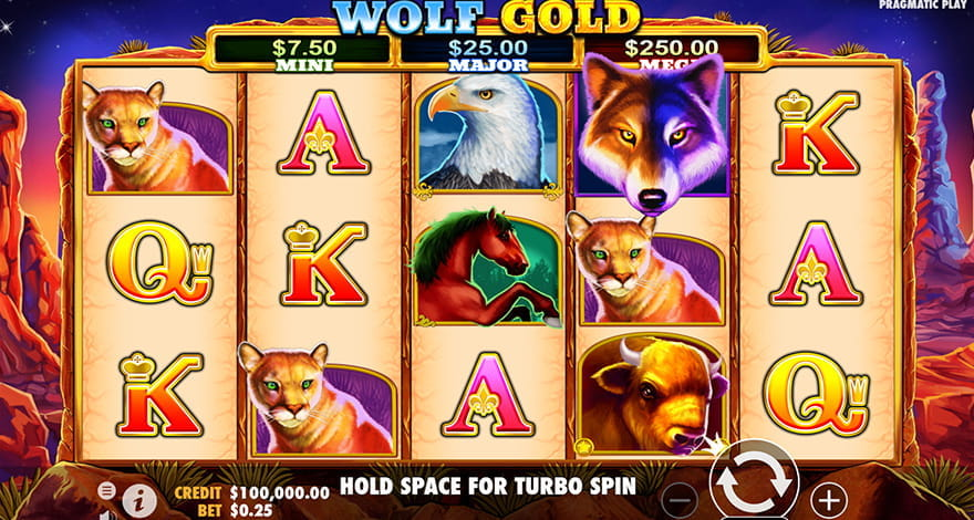 Play Wolf Gold Animal Slot