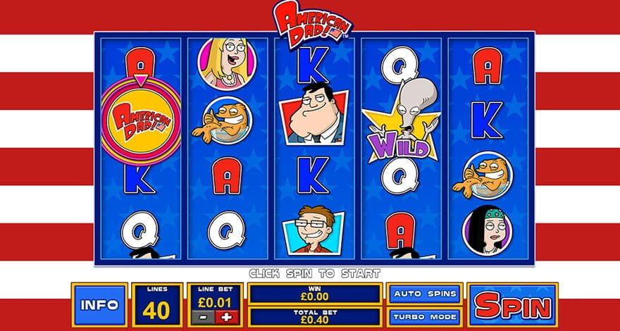 Spin the Reels on American Dad Cartoon Slot Machine