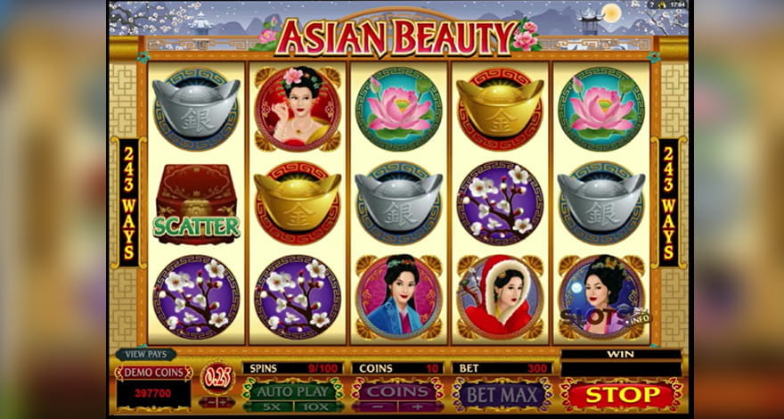 Asian Beauty Slot by Microgaming