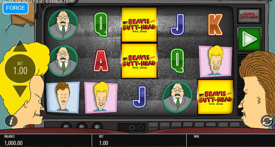 Win Free Spins on Beavis and Butt-Head Cartoon Slot Machine