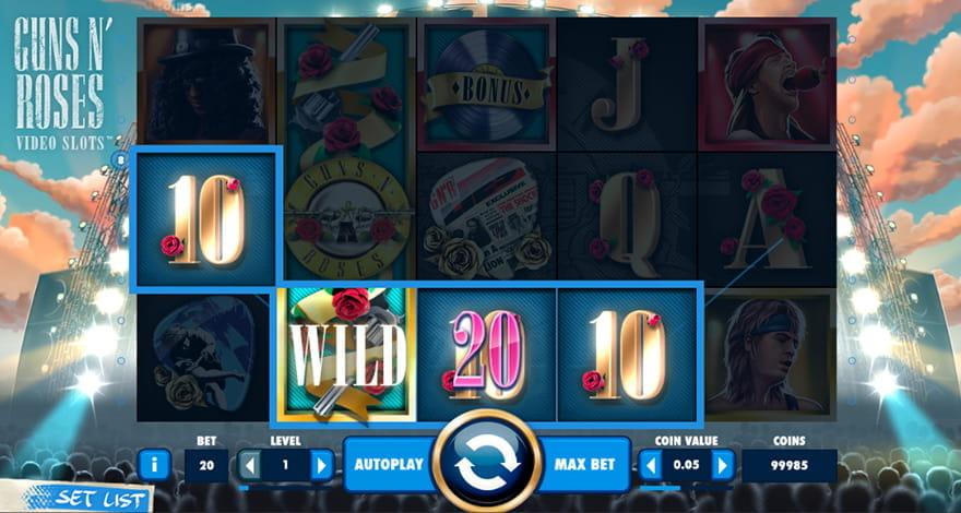 Guns N' Roses Slot by NetEnt
