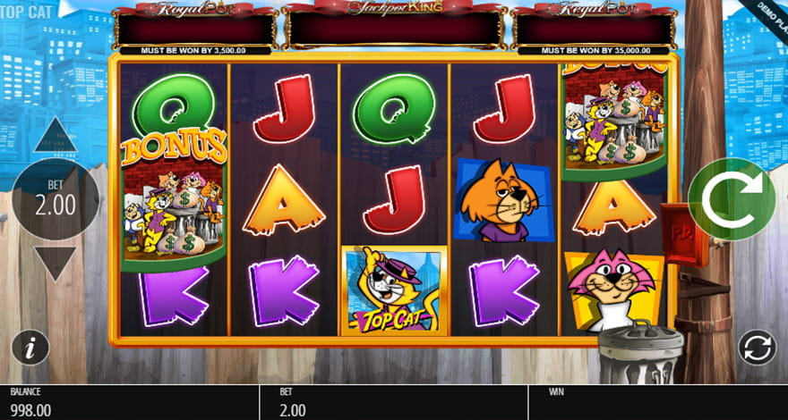 Try Your Luck on Top Cat Animated Slot Machine