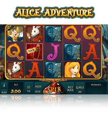 In-game view of Alice Adventure online slot