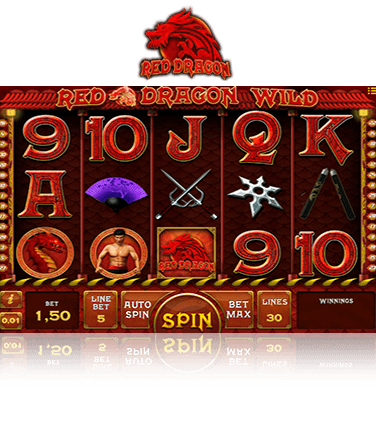 In-game view of Red Dragon Wild online slot