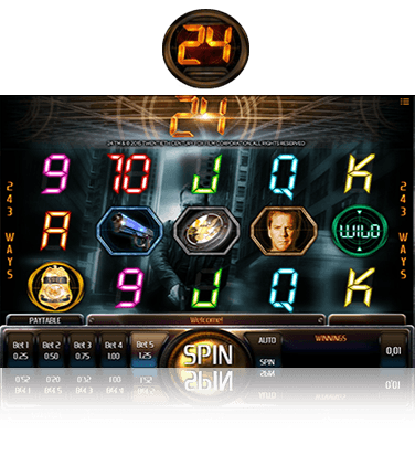 In-game view of 24 online slot
