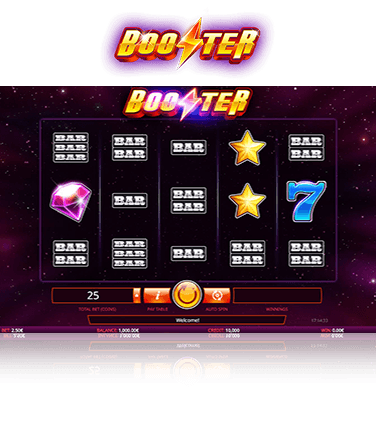 Booster game in play mode