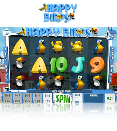 In-game view of Happy Birds online slot