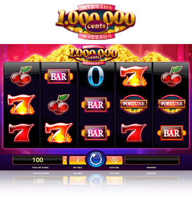 In-game view of Million Cents online slot