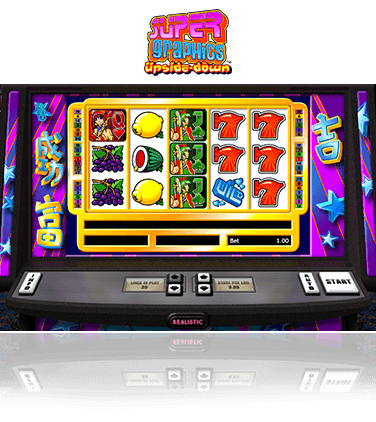 The Super Graphics Upside Down slot game in action