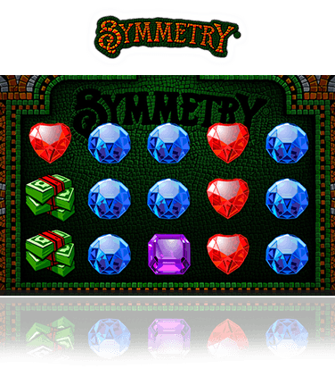 The Symmetry slot game in action