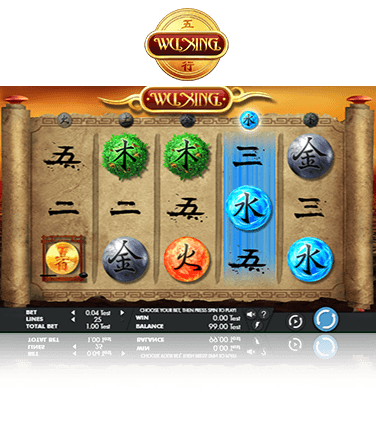 The Wu Xing slot game in action
