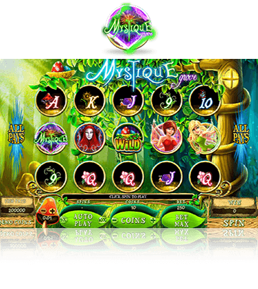 The Mystique Grove slot game in action