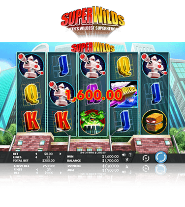 Super Wilds slot game in action