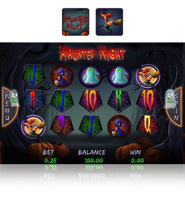 Haunted Night slot game in action