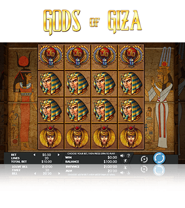 Gods of Giza slot game in action