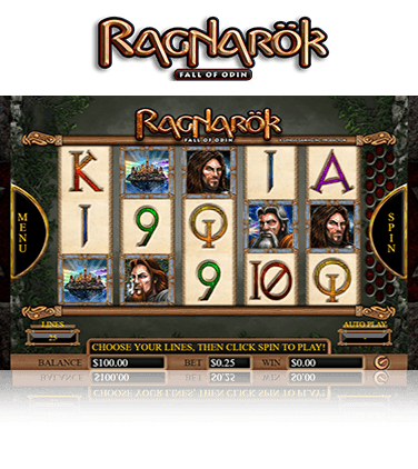 Ragnarok slot game view in action