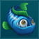 Blue and Green fish symbol in Golden Fish Tank