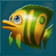 Green and Yellow fish symbol in Golden Fish Tank